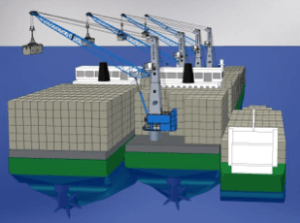 floating container storage and transhipment terminal