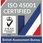 ISO 45001 Certified logo