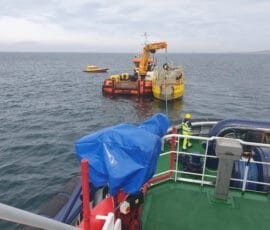 Successful tow and connection of tidal energy converter